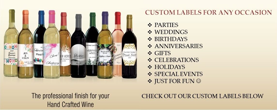 CUSTOM LABEL BANNER